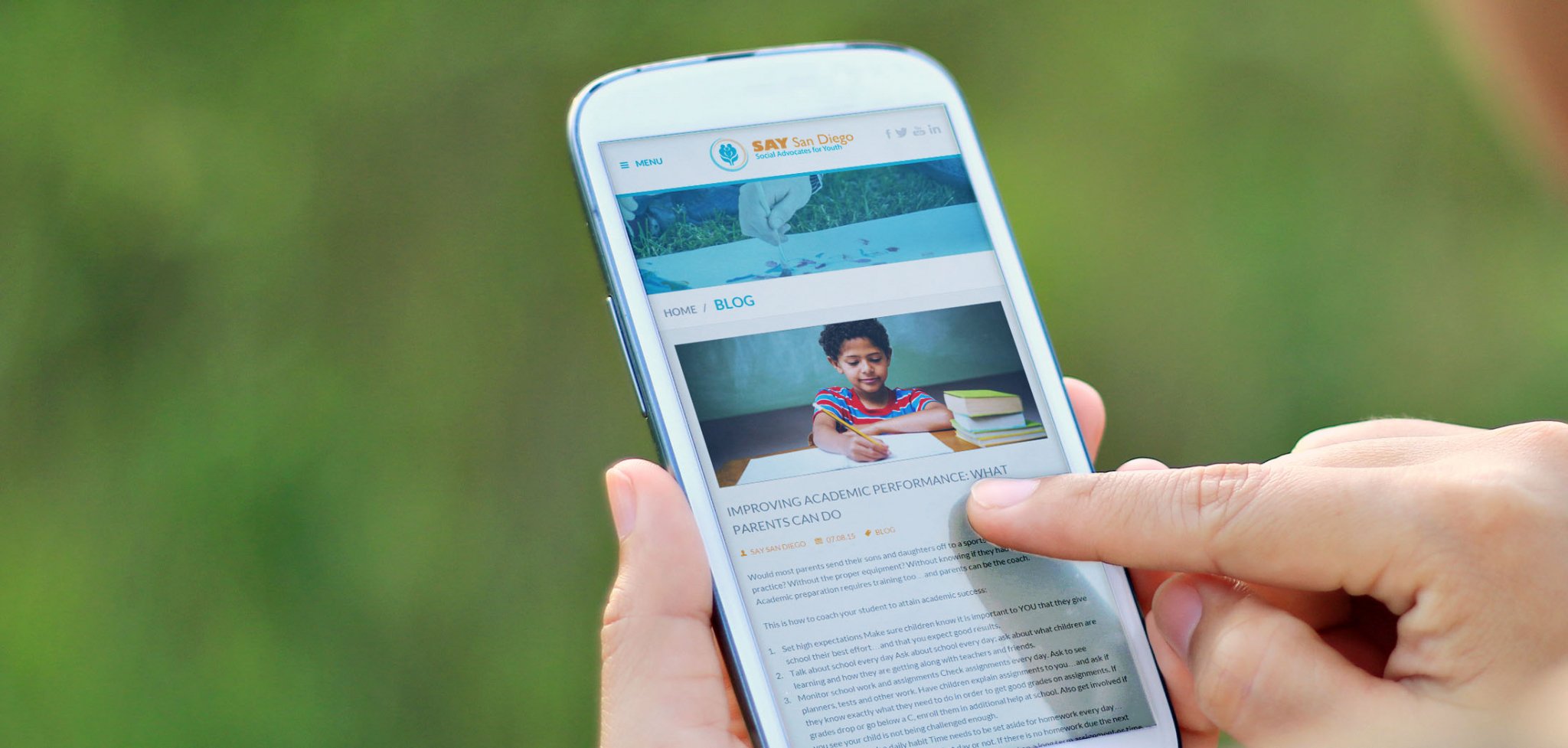 Child Advocacy Website Designs for Mobile