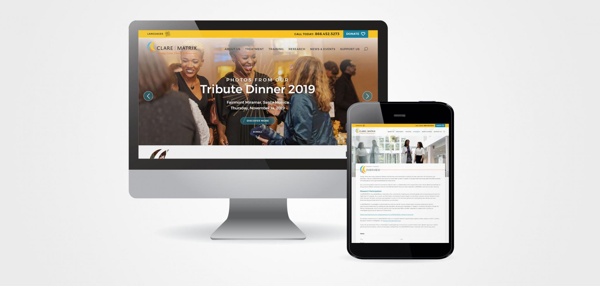 CLARE | MATRIX Addiction Recover Website Designs
