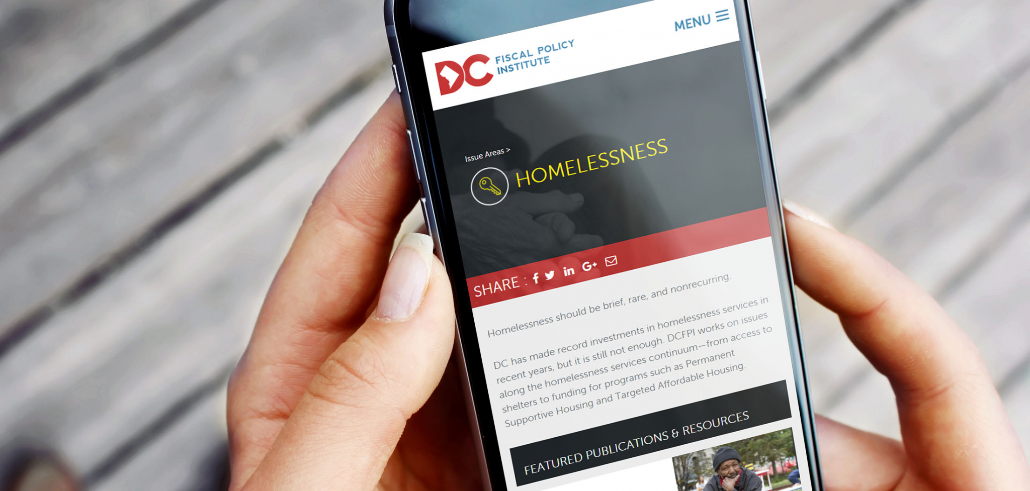 Policy Think Tank Website Designs for Mobile