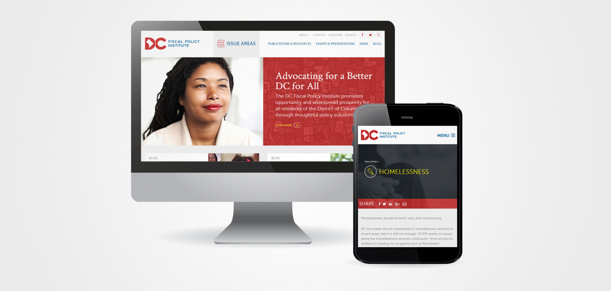 Policy Think Tank Website Designs