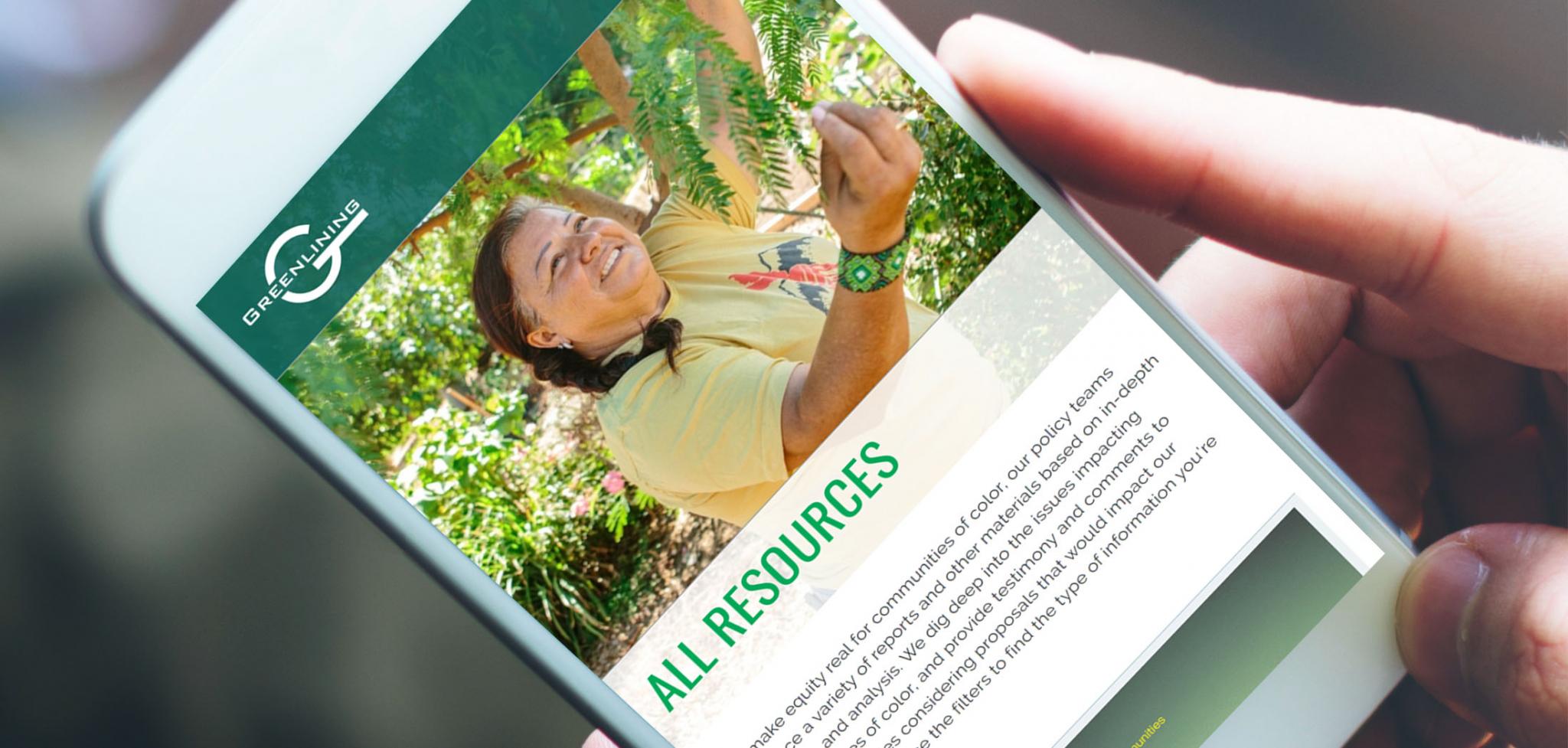 Greenlining Advocacy Website Screenshot