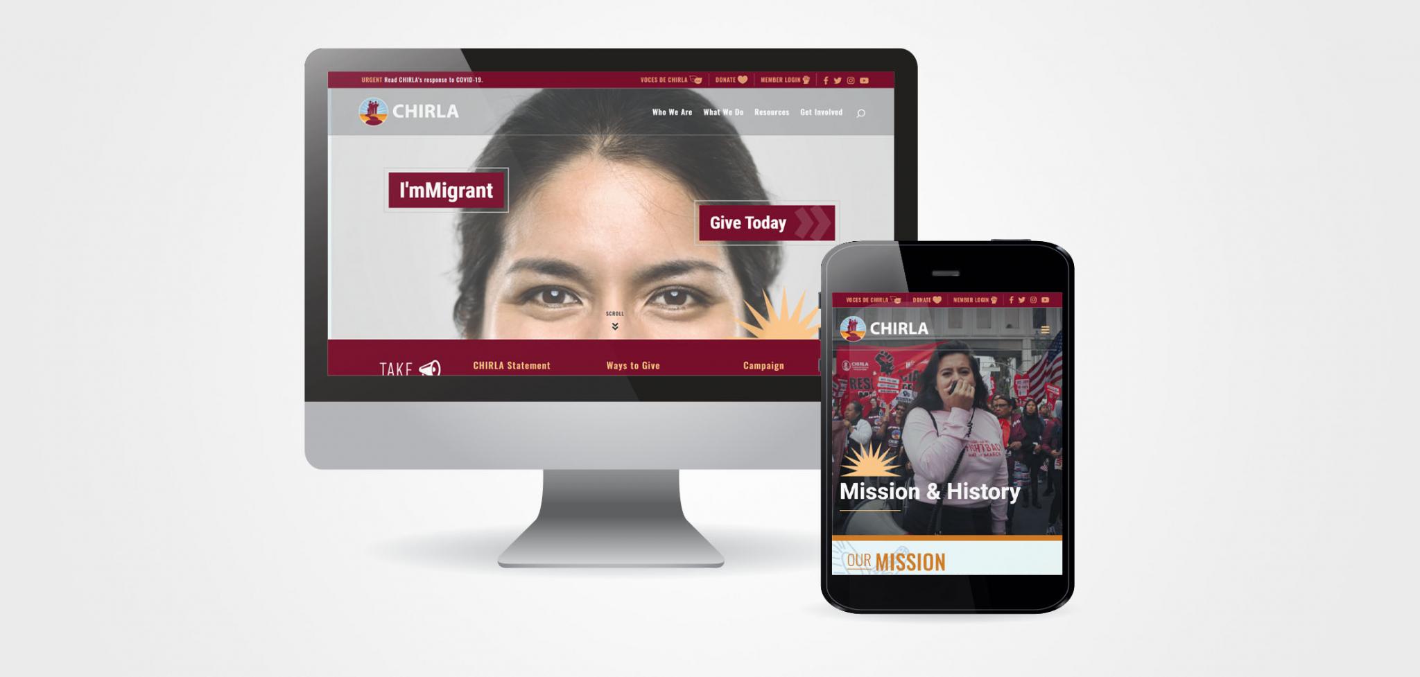 CHIRLA Advocacy Campaign Websites Design