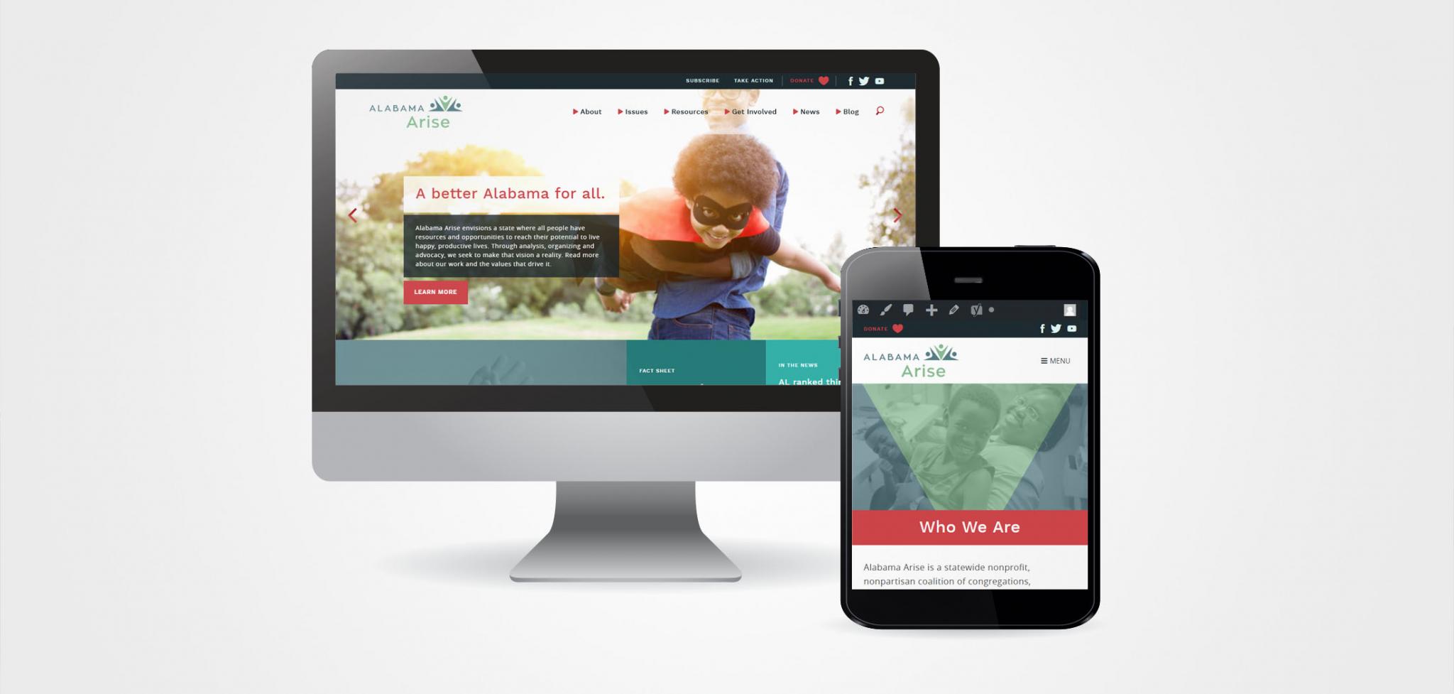 Grassroots Advocacy Branding Website Designs