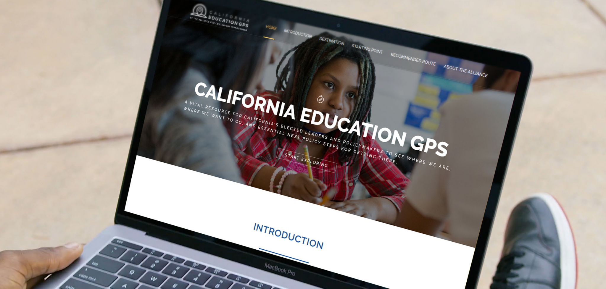California Education Policy Website Design