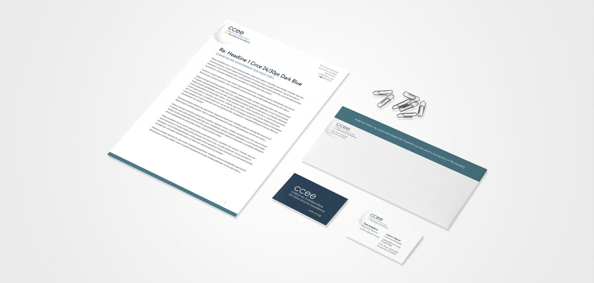 CCEE State Agency Rebranding Stationery Design