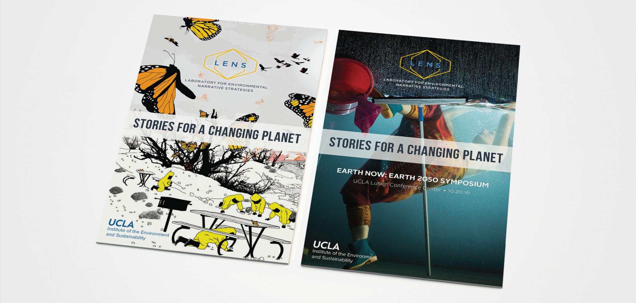 Print Design for UCLA Lab for Environmental Narrative Strategies