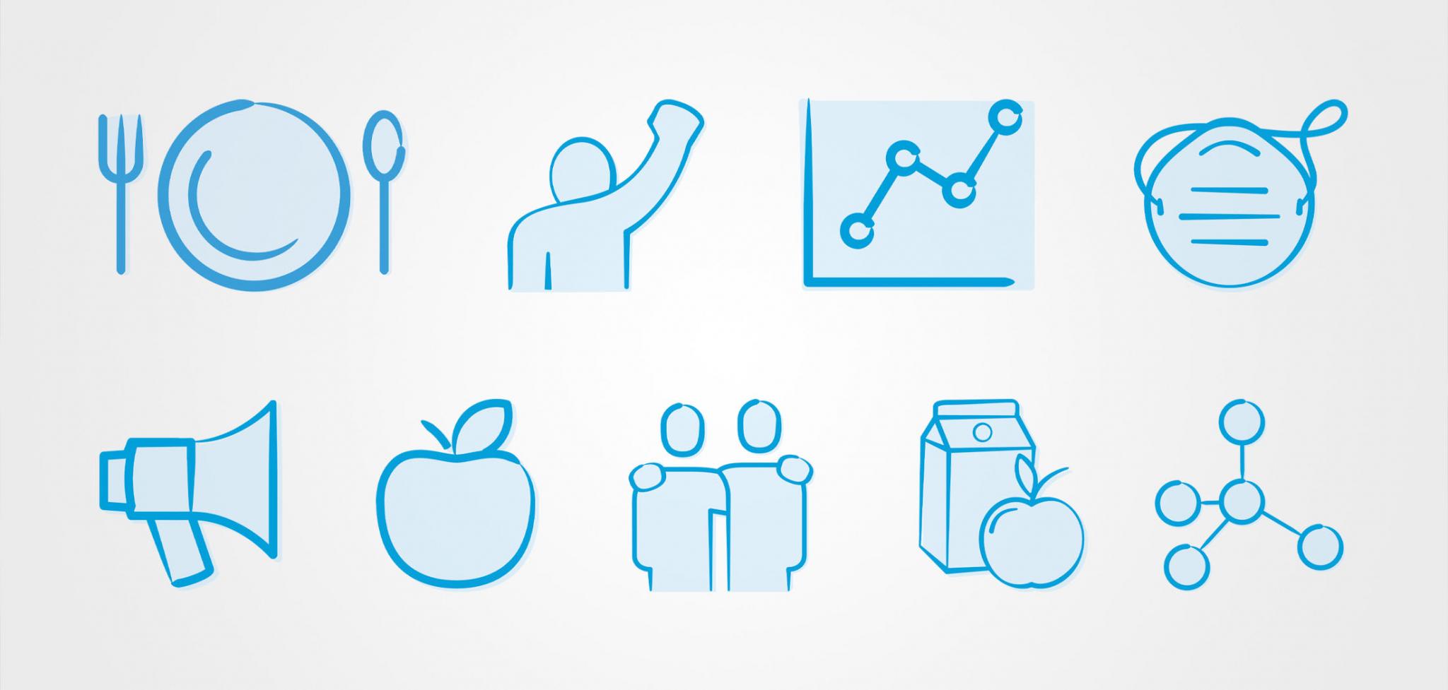 Nourish California Nonprofit Renaming Custom Icon Design