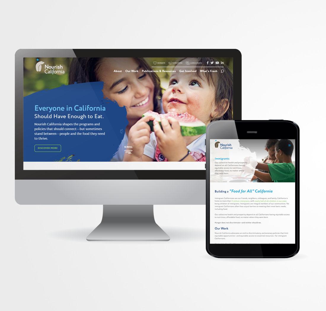 Nourish California Nonprofit Renaming Website Design