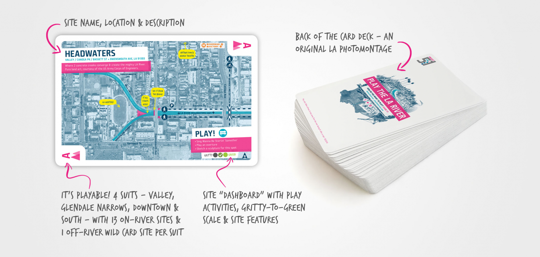 Play the LA River Public Art and Engagement Card Deck Design