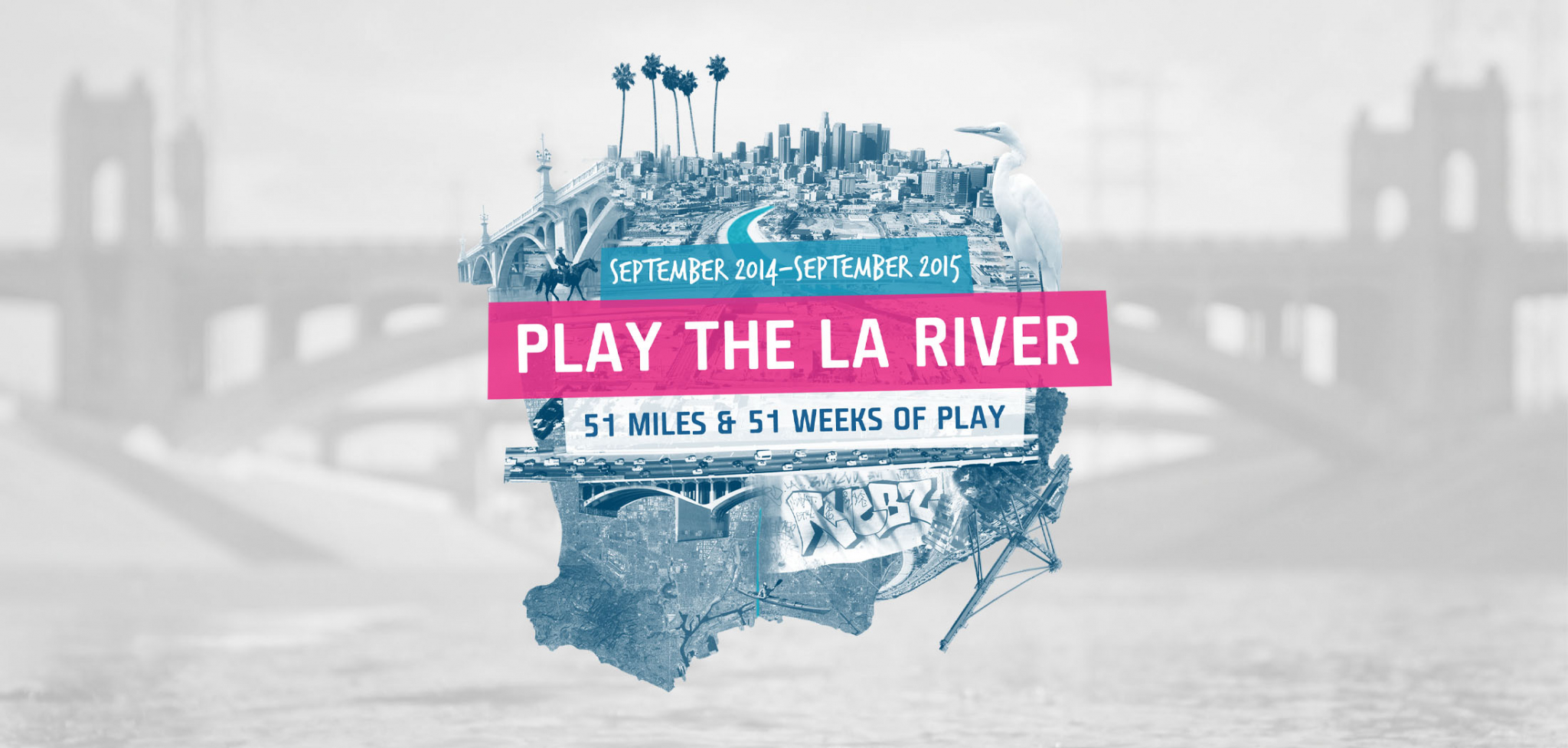 Play the LA River Public Art and Engagement Logo