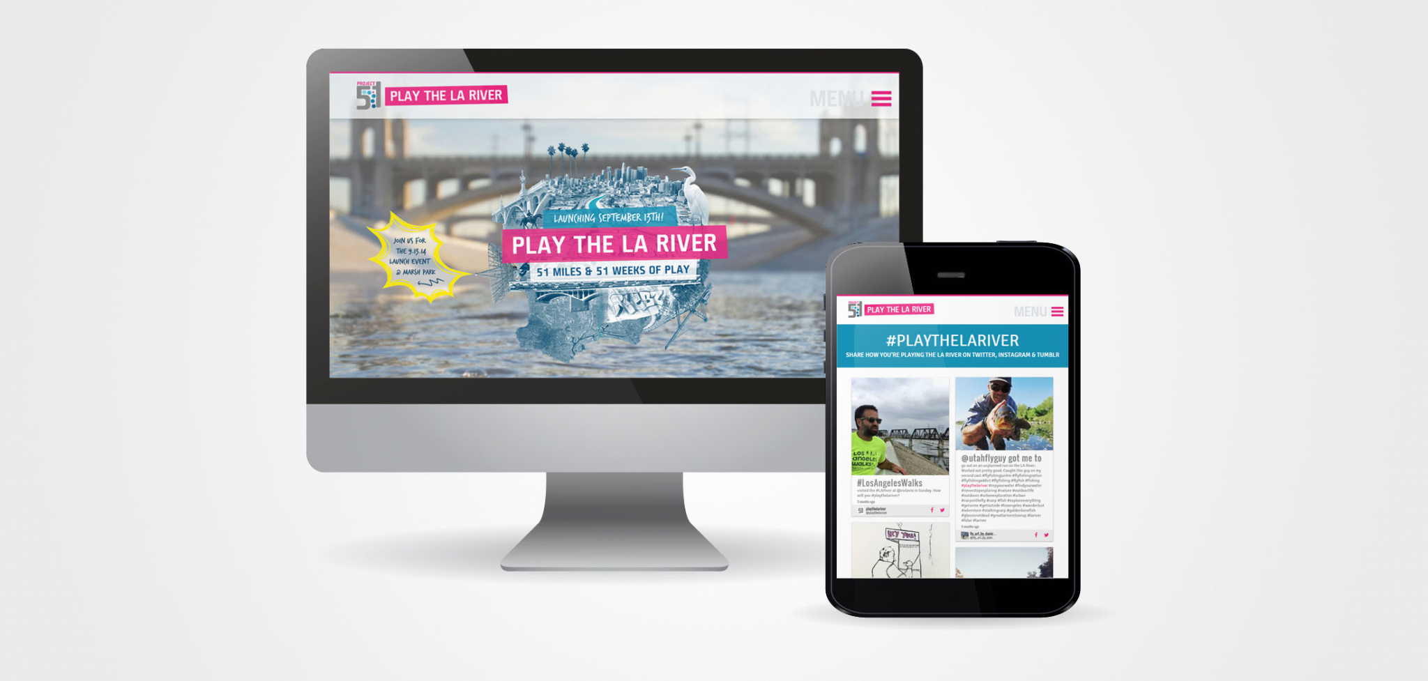 Play the LA River Public Art and Engagement Website Design