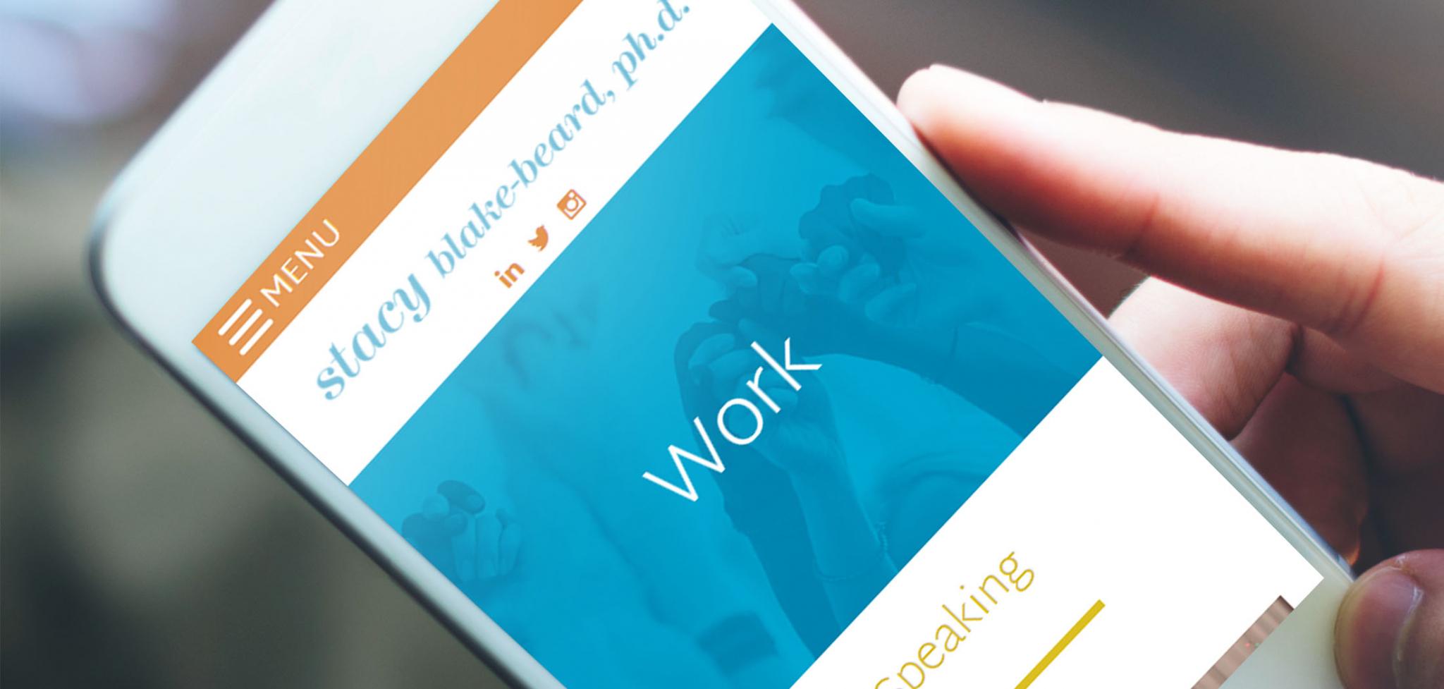 Leadership Consultant Website Designs for Mobile