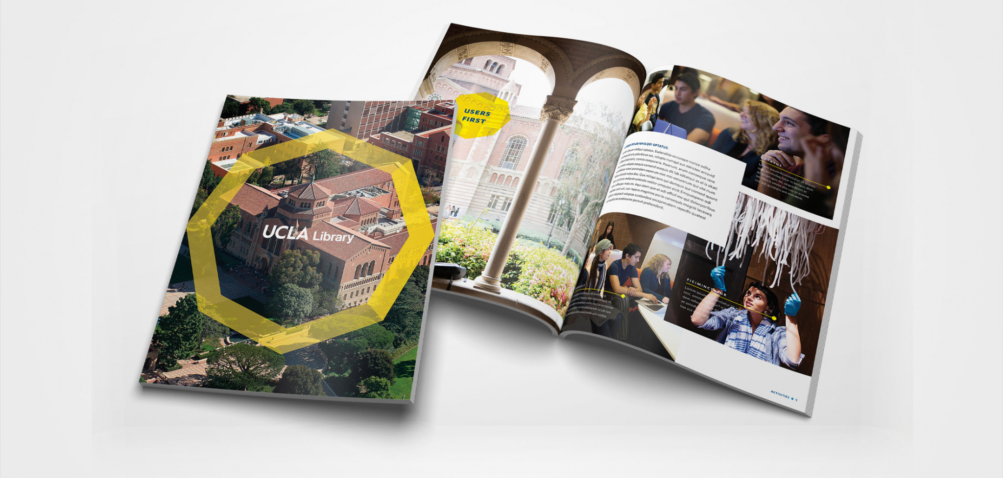UCLA Library Rebranding Brochure Design