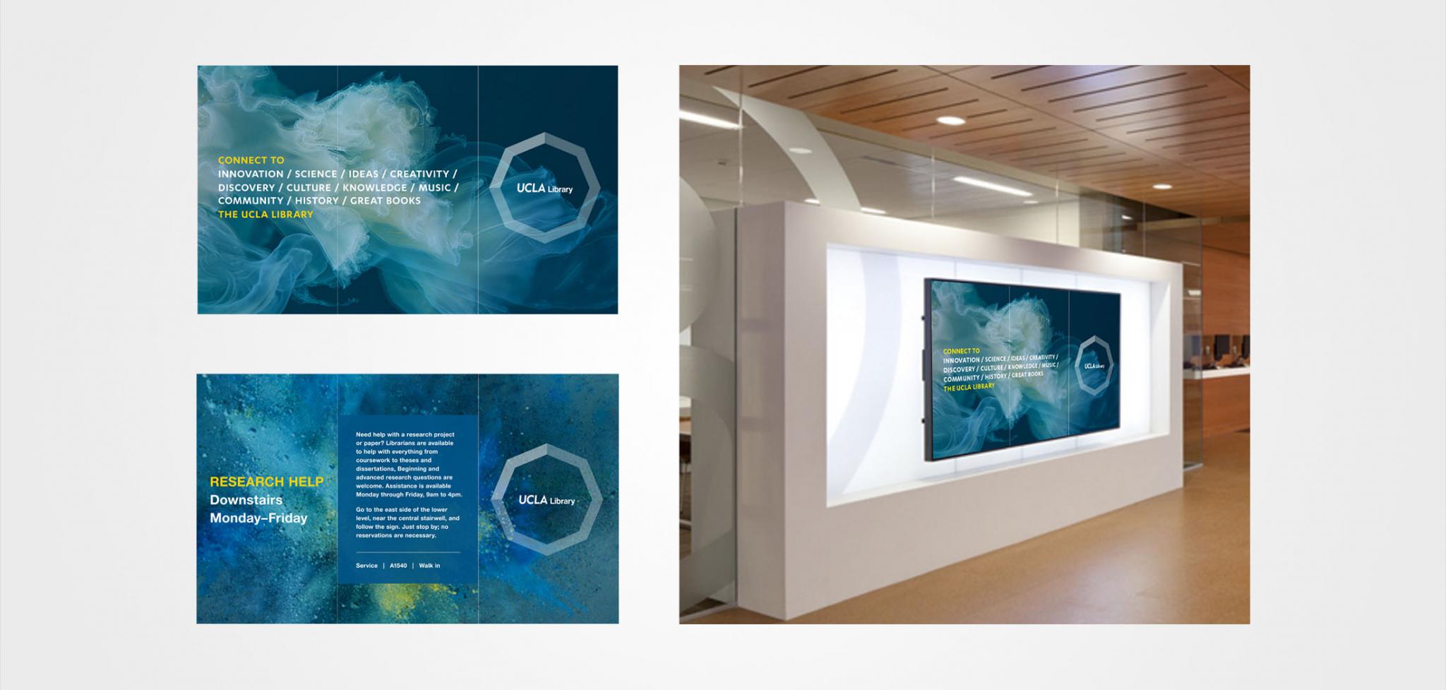 UCLA Library Rebranding Digital Signage Design