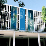 UCLA Library Rebranding Building Banner Design