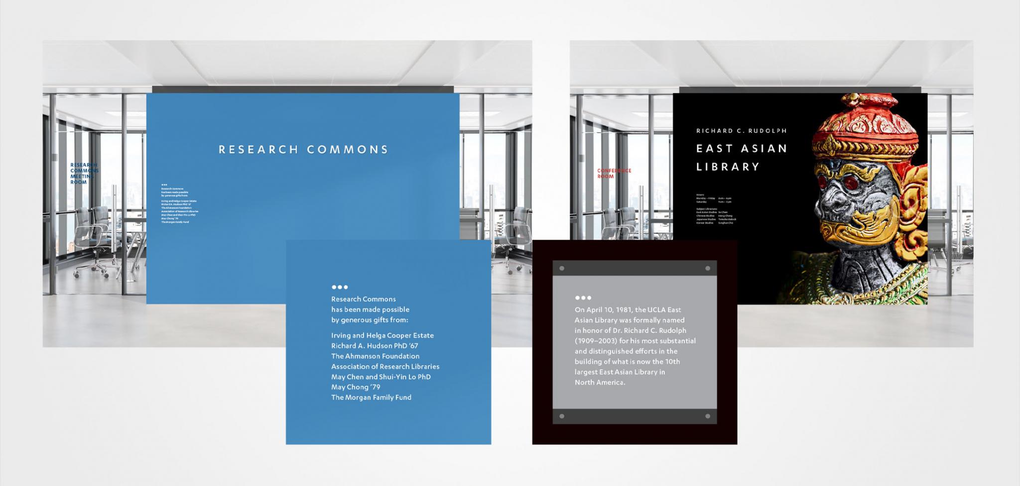 UCLA Library Rebranding Room Signage Design