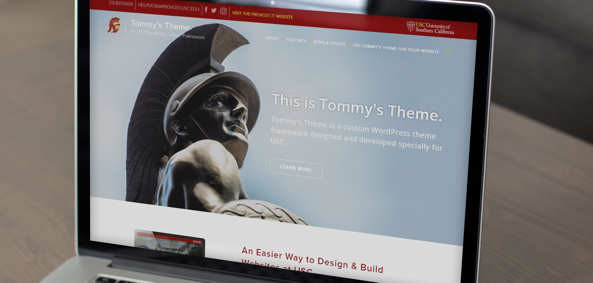 University WordPress Theme Development Template